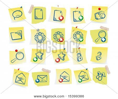 Paper icon set. Vector.