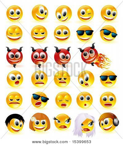 Smiles vector set.