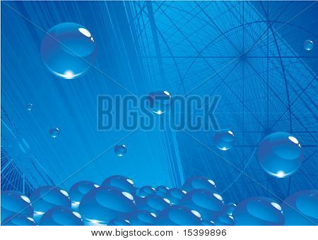 Blue environmen. Vector background