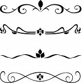 stock photo of scroll design  - Abstract vector design elements borders frames  - JPG