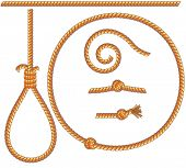 picture of gallows  - ropes set  - JPG