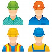 image of industrial safety  - Various Worker icons  - JPG