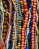collection of necklaces background