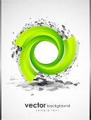 stock photo of circle shaped  - Abstract background with green shape - JPG
