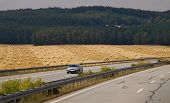 Highway. Wheat fild. Germany.