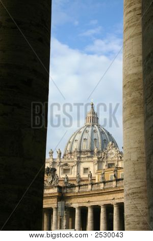Basilica Of Saint Peter And Columns