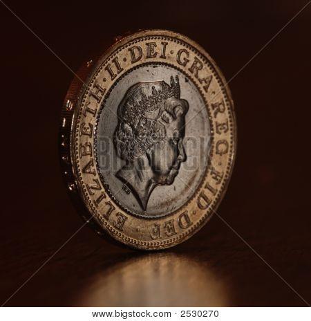 �2 Coin Balanced On Edge