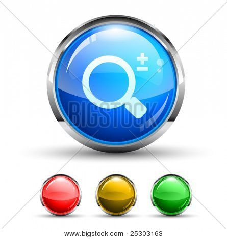 Search Cristal Glossy Button with light reflection and Chromed ring. 4 Colours included.