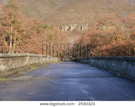 An old abandon bridge in a western