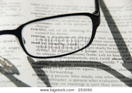 Reading Glasses On Dictionary