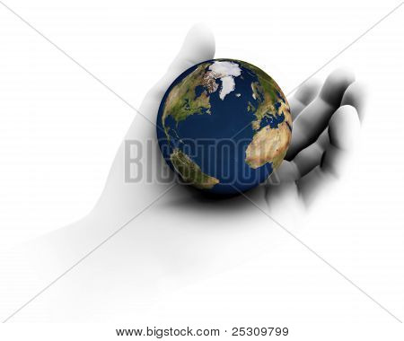 Holding The Earth In Hand
