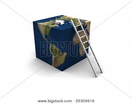 Earth Cube + Ladder