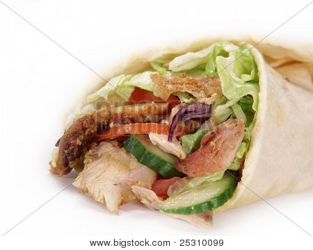 Gyros in tortilla