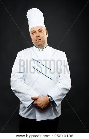 confident chef
