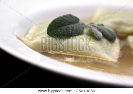 dumplings in chicken broth