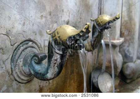 Ancient Byzantine Tap In An Old Bulgarian Monastery