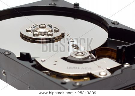 Close Up View Of Hard Drive