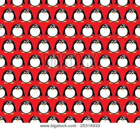 Seamless glossy penguin pattern. EPS10 vector format.
