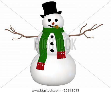 Snowman Front View
