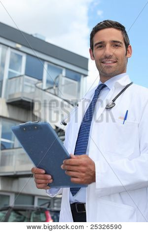 Doctor outside