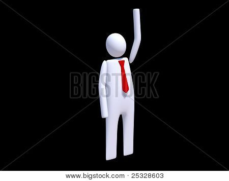 Stickman executive greeting to other