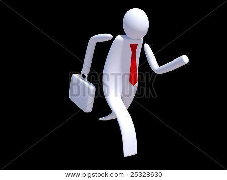 Stickman executive running