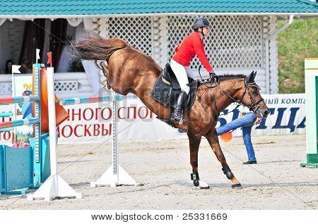 Rider On Jump Horse