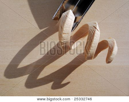 Wood Shaving's Shadow