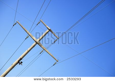 A Stone Electric Pole