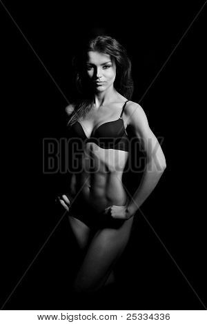 beautiful woman bodybuilder