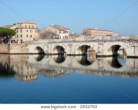 The Roman Bridge In Rimini 1