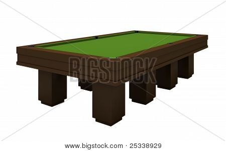 Empty Billiard Table