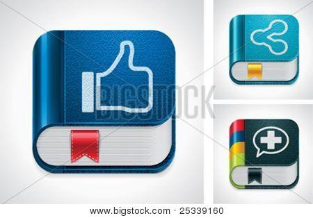 Vector social media sharing icon set