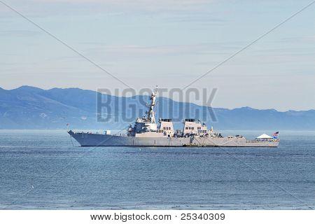USS Milius at Anchor