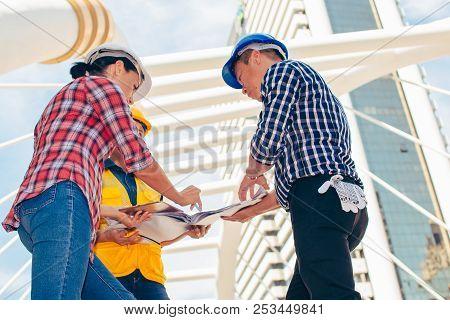 Three Industrial Engineer Wear Safety
