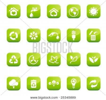 Glossy Environmental Icons, high quality
