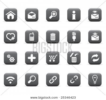 Glossy icons, web