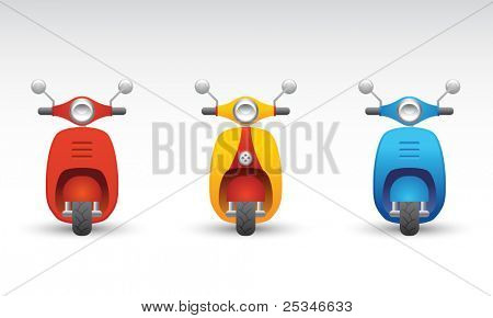 Set of three scooters