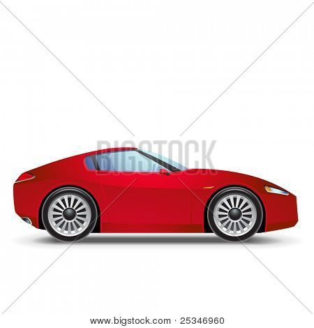 Red Sport car icon