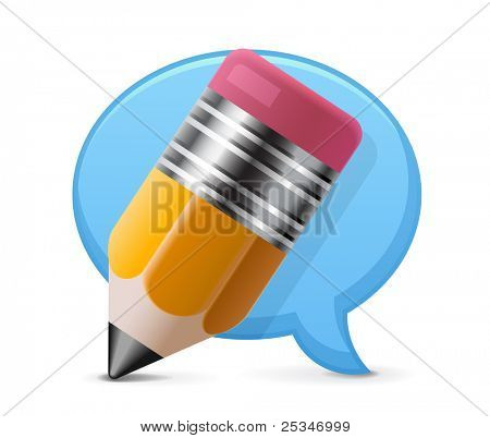 Comment writing icon