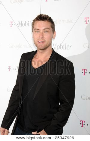 LOS ANGELES - NOV 16:  Lance Bass arrives at the Google Music Launch at Mr. Brainwash Studio on November 16, 2011 in Los Angeles, CA