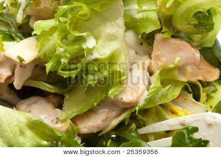 delicious and fresh caesar salad, closeup photo