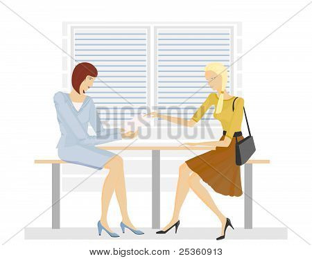Two Girls In The Office