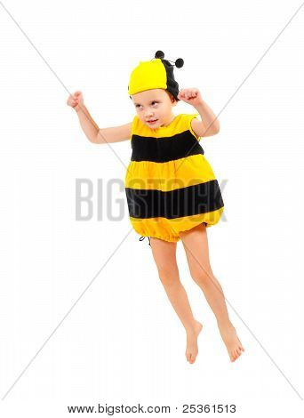Little Boy In Bee Carnival Costume