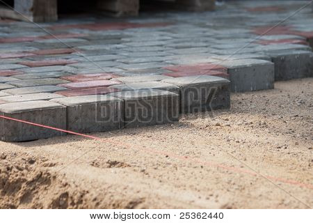 Installation Of Pavers