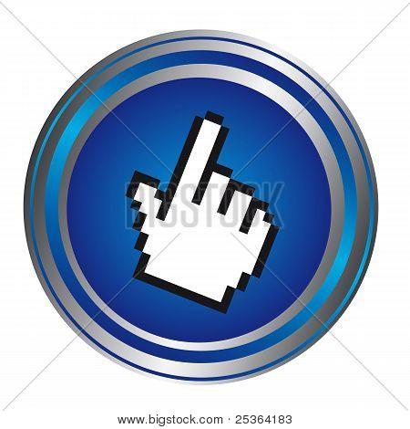 botón cursor de mano