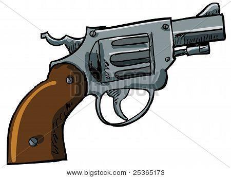 Illustration of a snub nose revolver