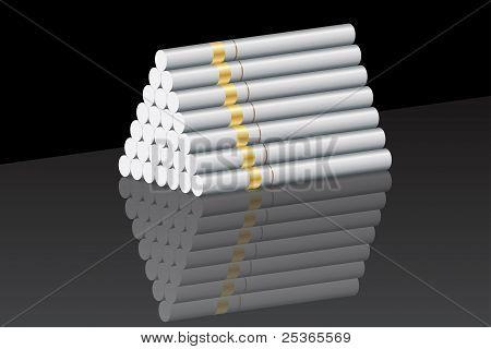 Cigarette pyramid