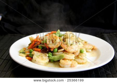 steaming healthy food