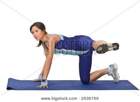 Woman Doing Aerobics